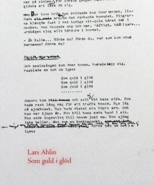 Omslag: Lars Ahlin - Som guld i glöd